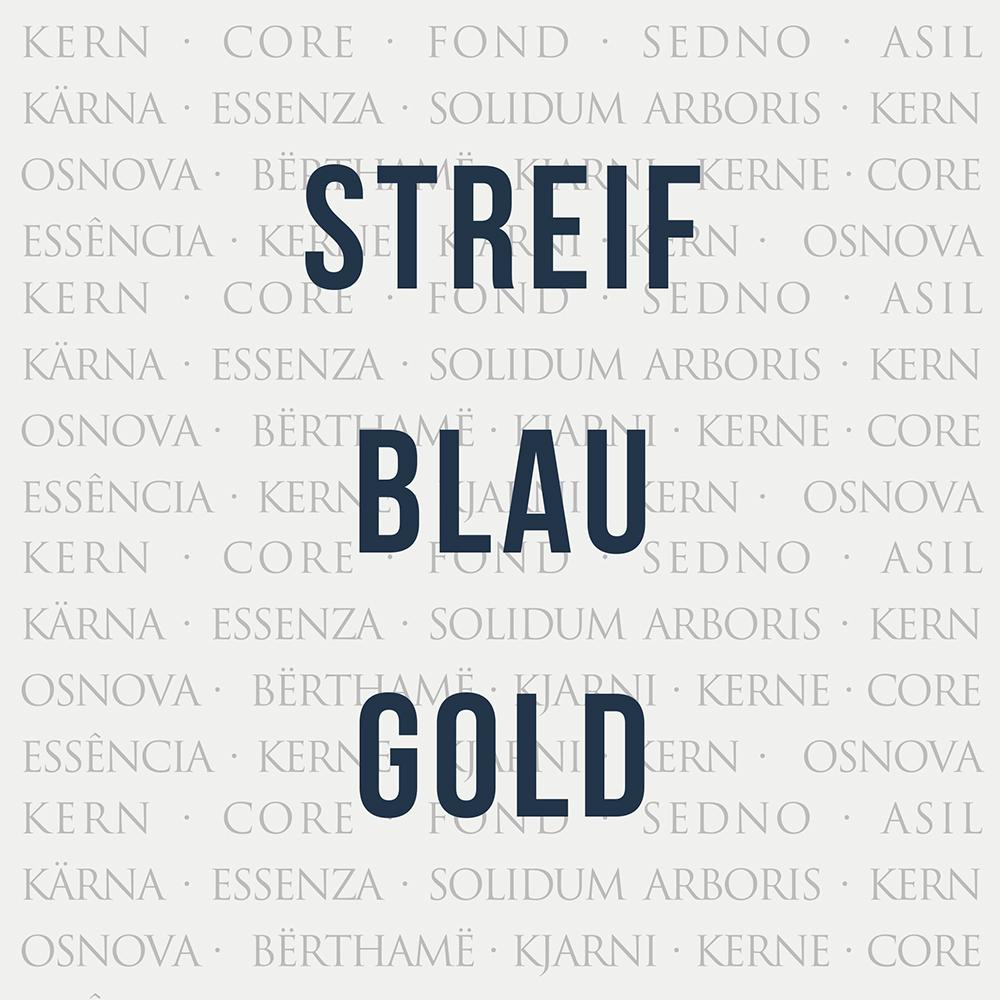 Streif Blau Gold Kachel