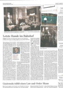 Foto im Zeitungsartikel vom ehemaligen Seniorchef von Wilhelm Kern, Hanspeter Kern