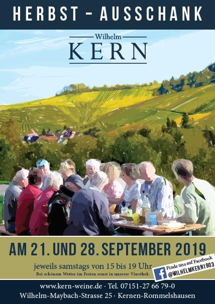 Plakat: Herbstausschank am 21. und 28. September 2019