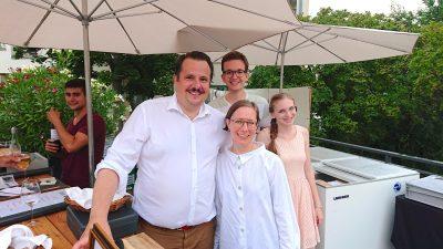 Frau Jeggle und Herr Hartenstein vom Ochsen und Mara Middendorf und Martin Kern von Wilhelm Kern