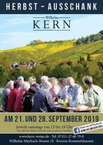 Freunde der Wilhelm Kern GmbH genießen Kern-Weine
