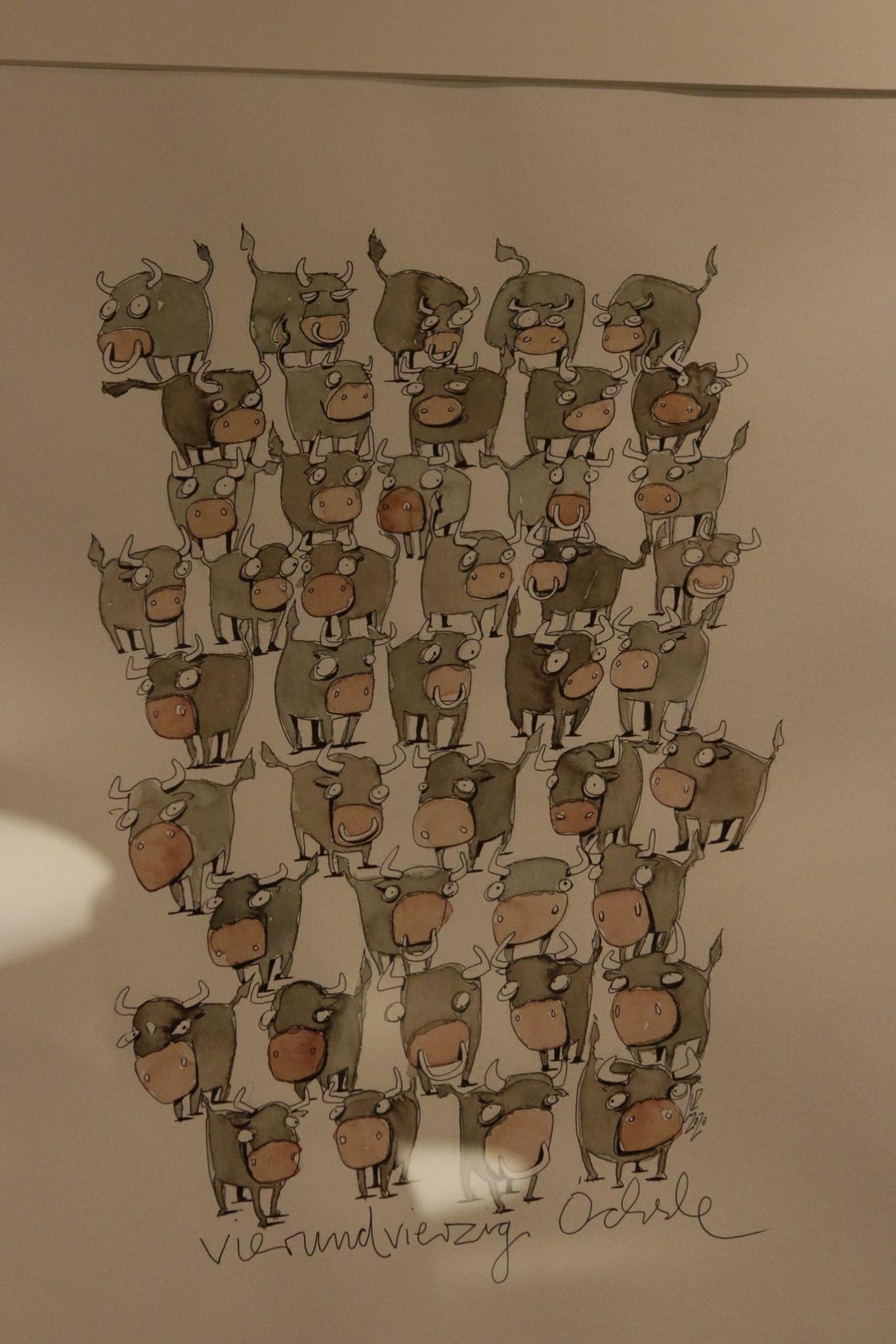 """Illustration mit dem Titel """"Vierundzwanzig Öchsle"""" von Michael Luz"""
