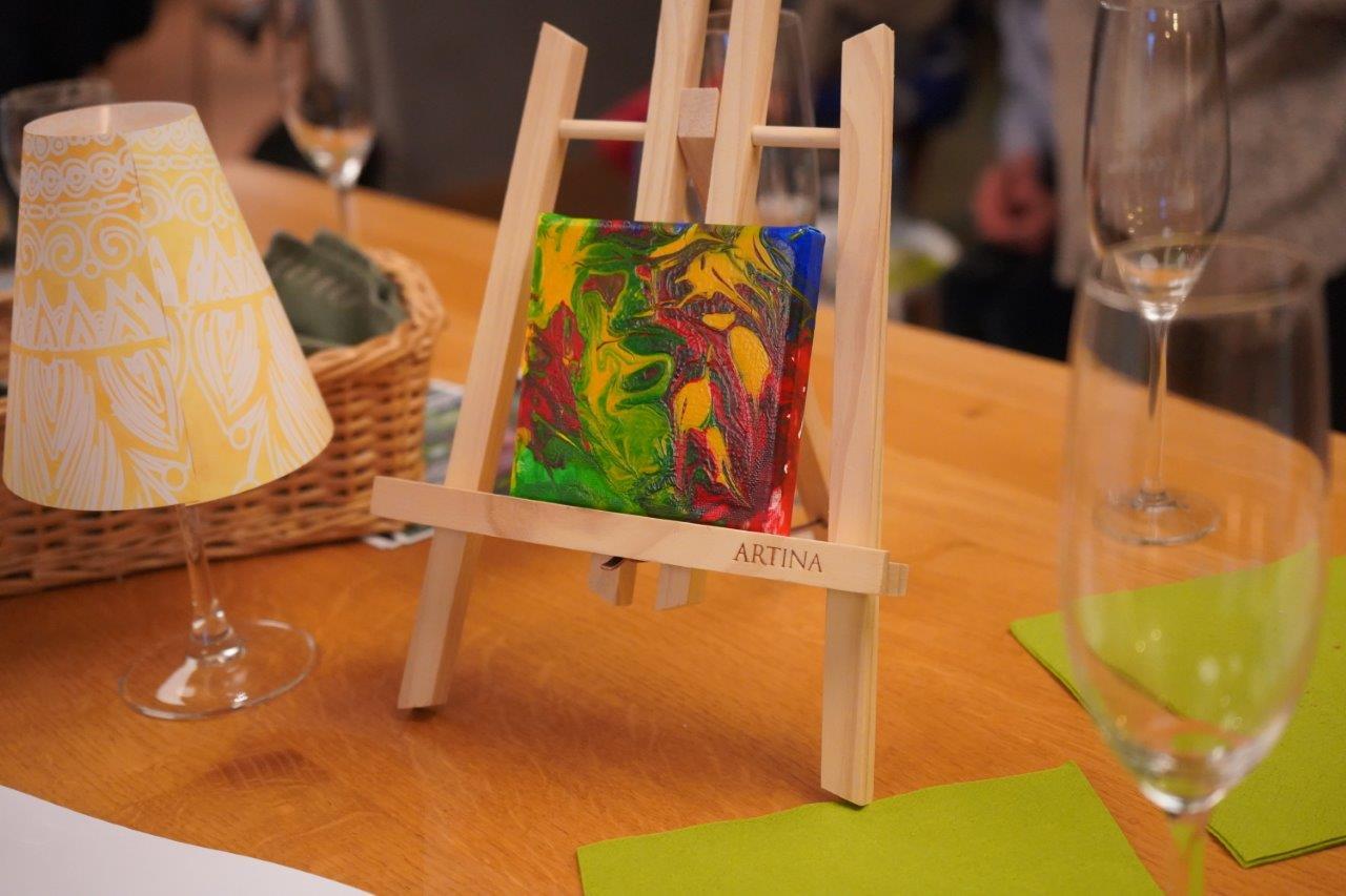 Kleines Kunstwerk beim Weinsalon von Wilhelm Kern